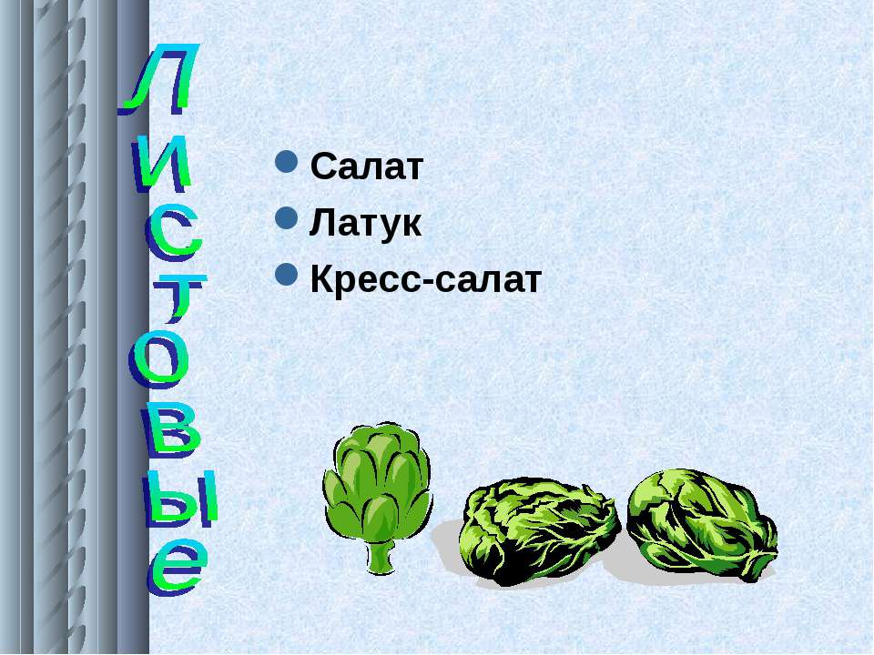 Салат Латук Кресс-салат