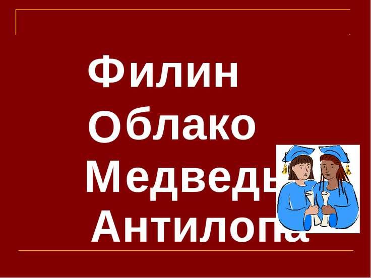 илин блако едведь нтилопа Ф А М О