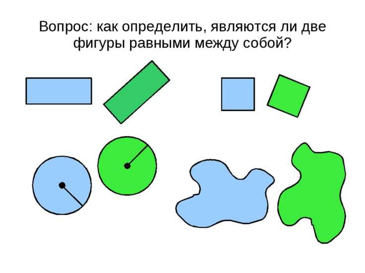 Вопрос: как определить, являются ли две фигуры равными между собой?