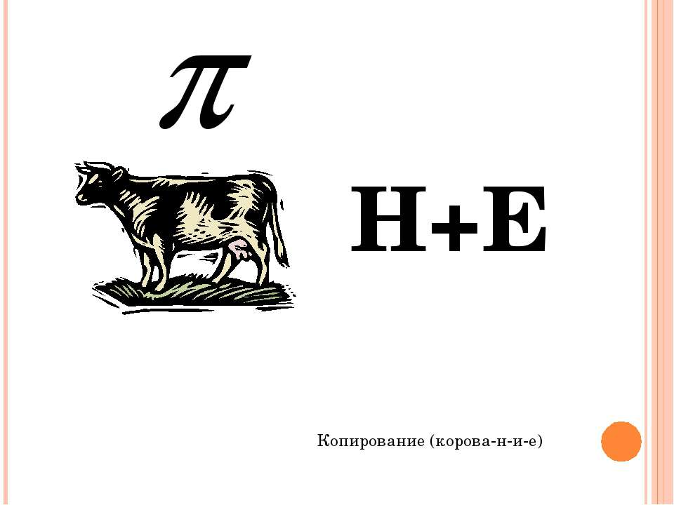 Н+Е Копирование (корова-н-и-е)