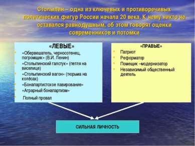 Столыпин – одна из ключевых и противоречивых политических фигур России начала...