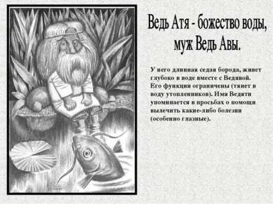 У него длинная седая борода, живет глубоко в воде вместе с Ведявой. Его функц...
