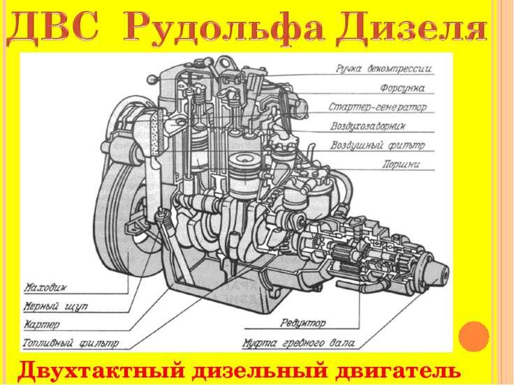 Схема рисунок двигателя