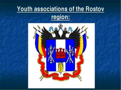 Youth associations of the Rostov region: