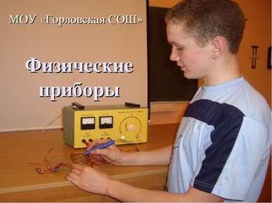 Физические приборы МОУ «Горловская СОШ»