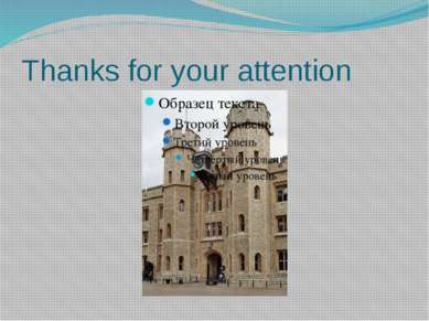 Thanks for your attention I think that you like this presentation. Thanks for...