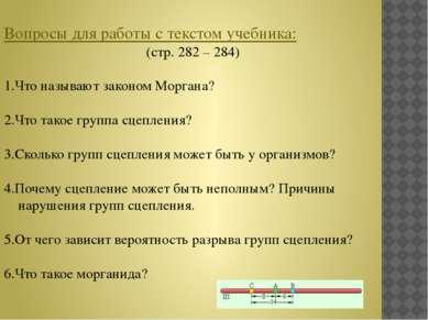 Вопросы для работы с текстом учебника: (стр. 282 – 284) 1.Что называют законо...
