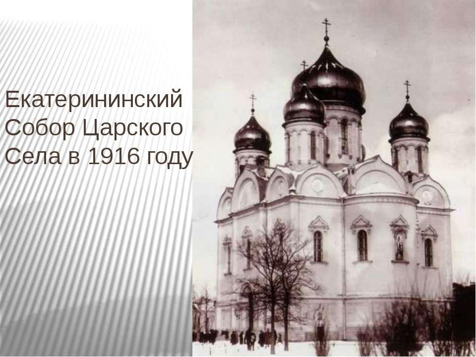 Екатерининский Собор Царского Села в 1916 году