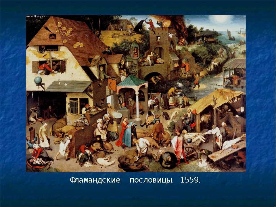 Фламандские пословицы. 1559.
