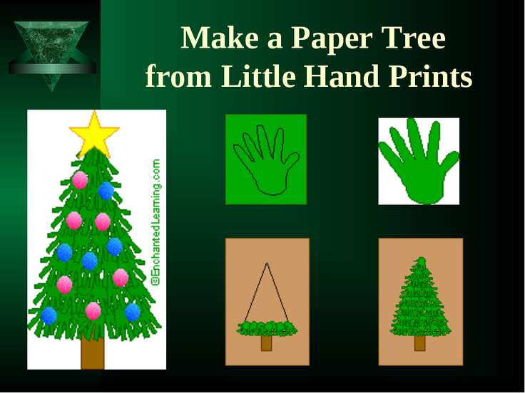 Make a Paper Tree from Little Hand Prints