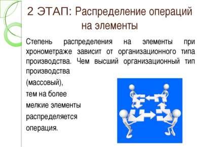 2 ЭТАП: Распределение операций на элементы Степень распределения на элементы ...