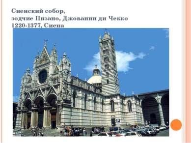 Сиенский собор, зодчие Пизано, Джованни ди Чекко 1220-1377, Сиена