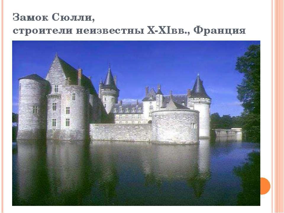 Замок Сюлли, строители неизвестны X-XIвв., Франция