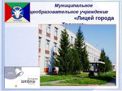 Муниципальное общеобразовательное учреждение «Лицей города Троицка»