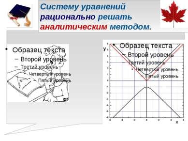 Систему уравнений рационально решать аналитическим методом.
