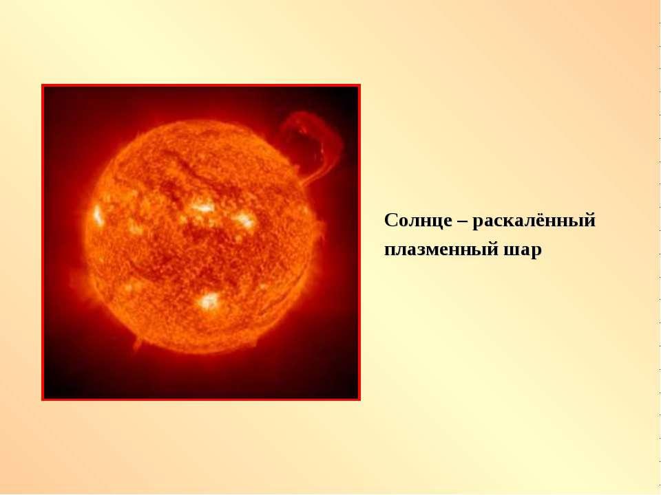 Солнце – раскалённый плазменный шар