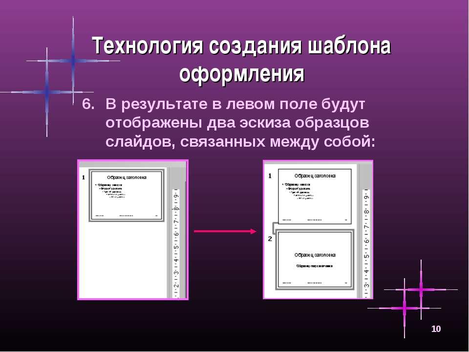 * Технология создания шаблона оформления В результате в левом поле будут отоб...