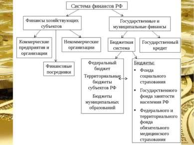 Система финансов РФ Финансы хозяйствующих субъектов Государственные и муницип...