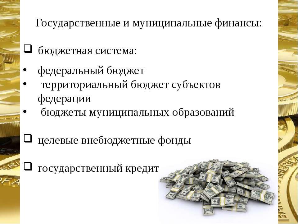 Государственные и муниципальные финансы: бюджетная система: федеральный бюдже...