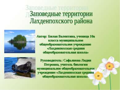 Автор: Билан Валентина, ученица 10а класса муниципальное общеобразовательное ...