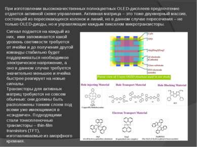При изготовлении высококачественных полноцветных OLED-дисплеев предпочтение о...