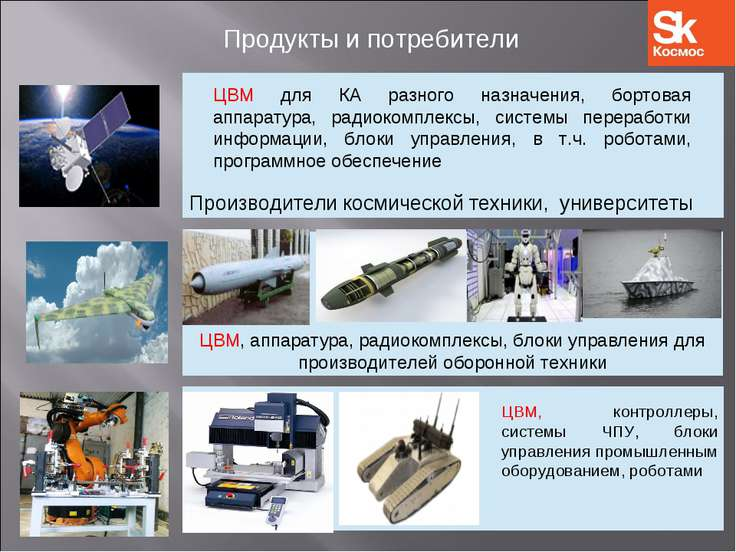 ЦВМ, аппаратура, радиокомплексы, блоки управления для производителей оборонно...
