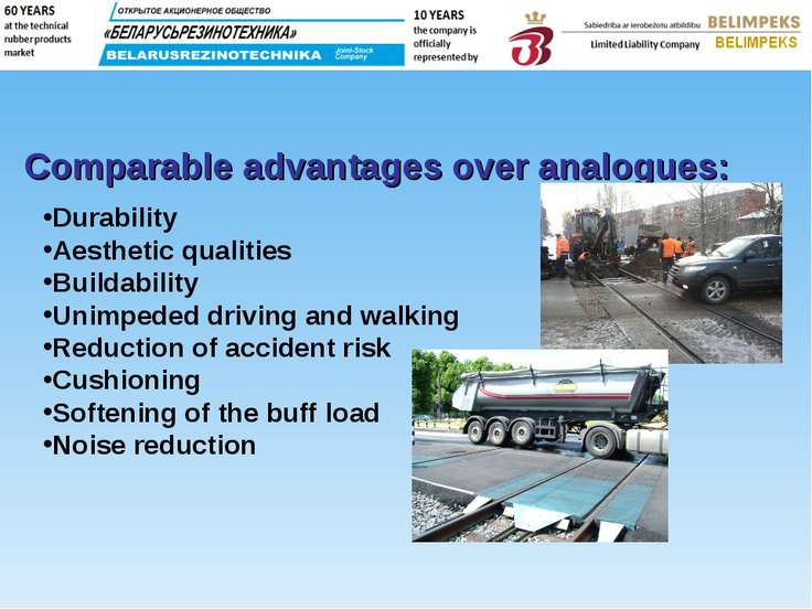 Durability Aesthetic qualities Buildability Unimpeded driving and walking Red...