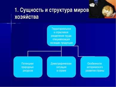1. Сущность и структура мирового хозяйства
