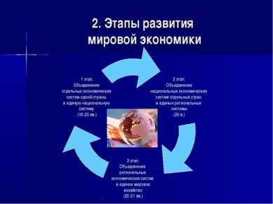2. Этапы развития мировой экономики
