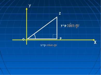 О Р Z φ х=ρ у=ρ . ρ Х У