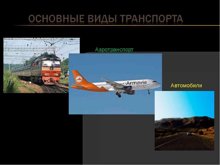 Железная дорога Автомобили Аэротранспорт