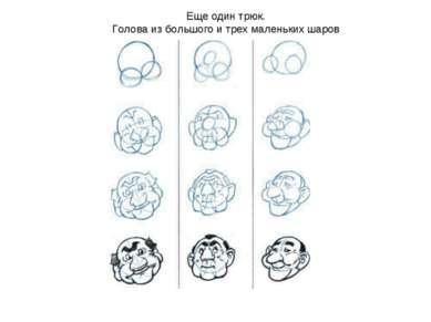 Еще один трюк. Голова из большого и трех маленьких шаров