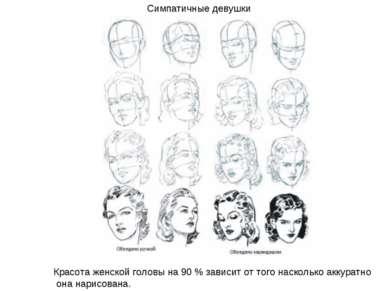 Симпатичные девушки Красота женской головы на 90 % зависит от того насколько ...