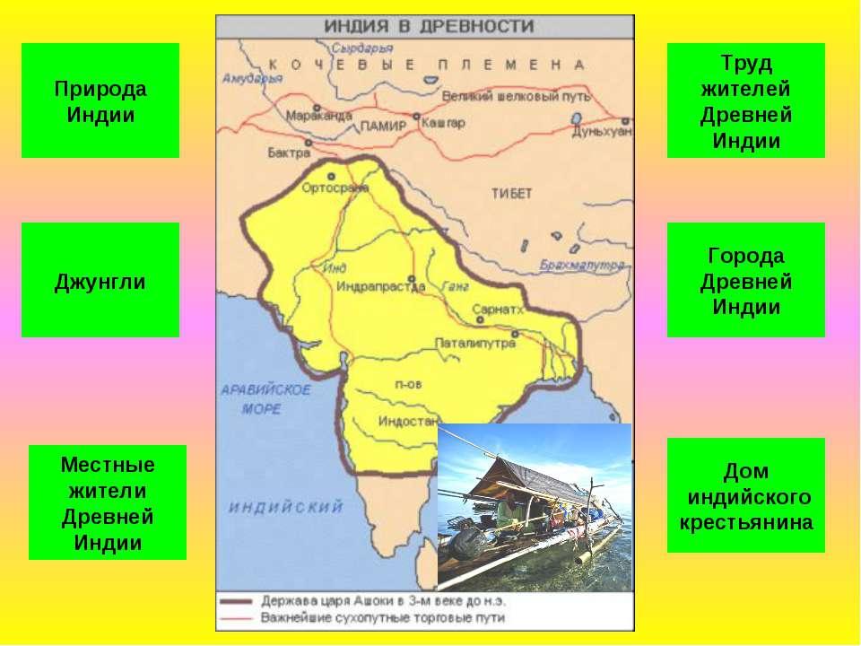 Природа Индии Джунгли Города Древней Индии Труд жителей Древней Индии Местные...