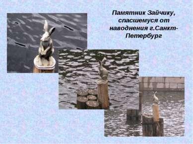 Памятник Зайчику, спасшемуся от наводнения г.Санкт-Петербург