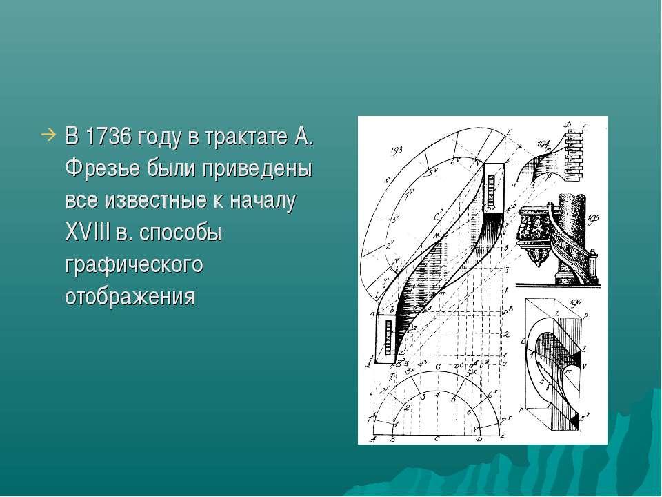 В 1736 году в трактате А. Фрезье были приведены все известные к началу XVIII ...