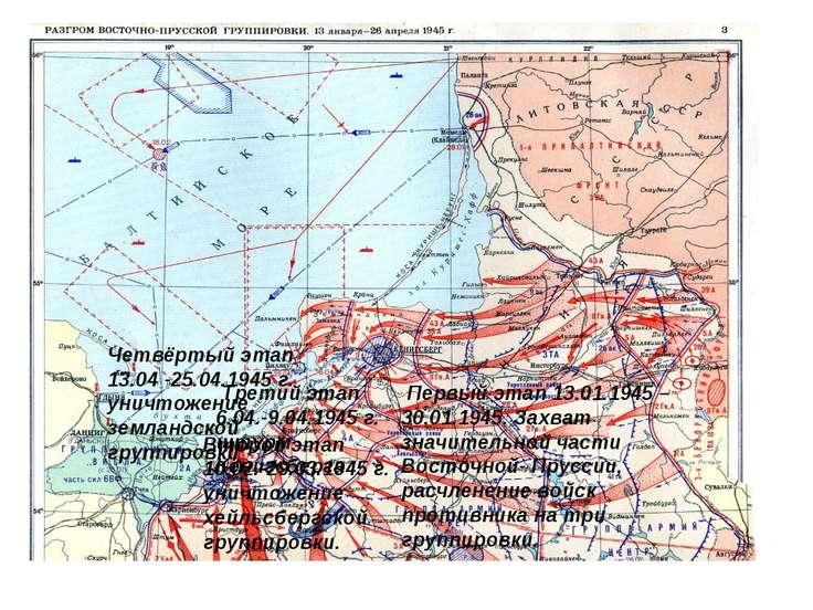 Первый этап 13.01.1945 – 30.01.1945. Захват значительной части Восточной- Пру...