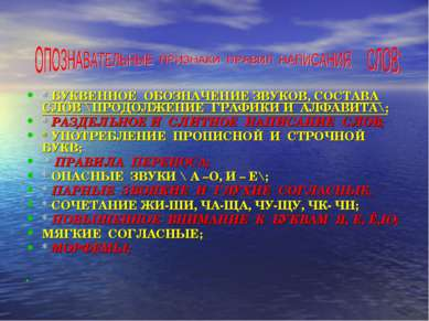 * БУКВЕННОЕ ОБОЗНАЧЕНИЕ ЗВУКОВ, СОСТАВА СЛОВ \ПРОДОЛЖЕНИЕ ГРАФИКИ И АЛФАВИТА\...