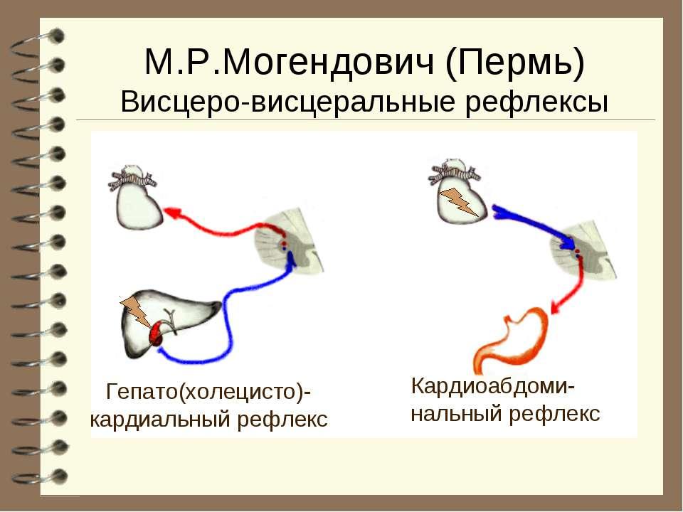 М.Р.Могендович (Пермь) Висцеро-висцеральные рефлексы Гепато(холецисто)- карди...