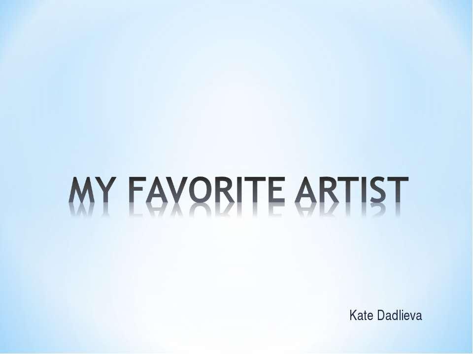 Kate Dadlieva