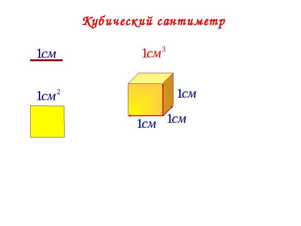 Кубический сантиметр