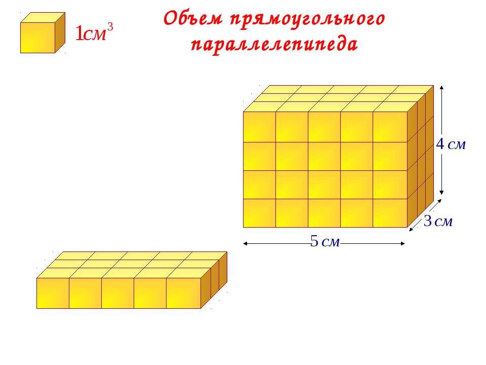 Объем прямоугольного параллелепипеда