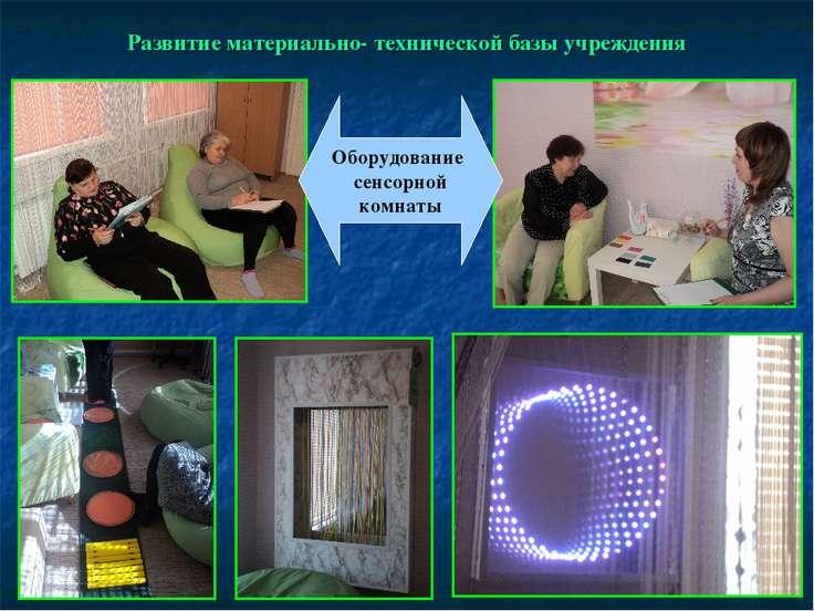 Развитие материально- технической базы учреждения Оборудование сенсорной комнаты