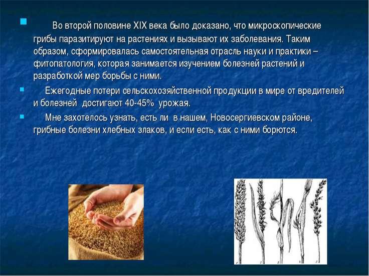 Во второй половине XIX века было доказано, что микроскопические грибы паразит...