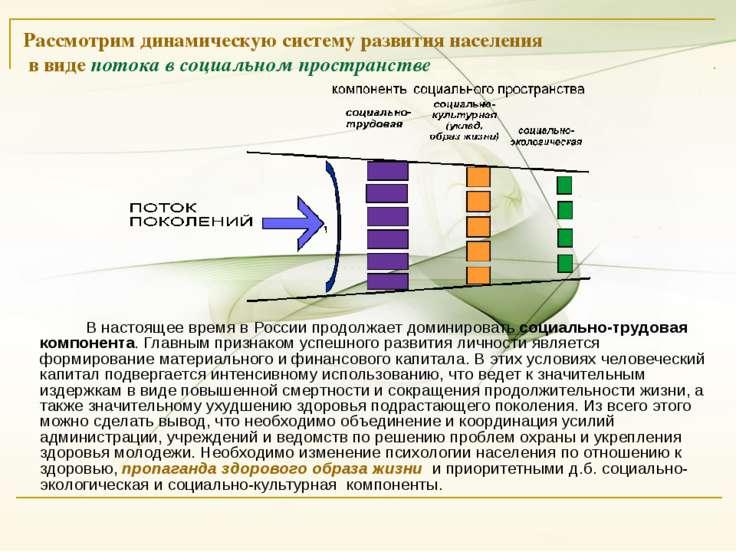 Рассмотрим динамическую систему развития населения в виде потока в социальном...