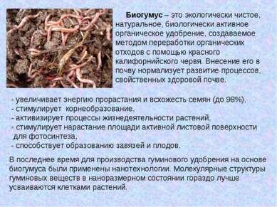 Биогумус – это экологически чистое, натуральное, биологически активное органи...
