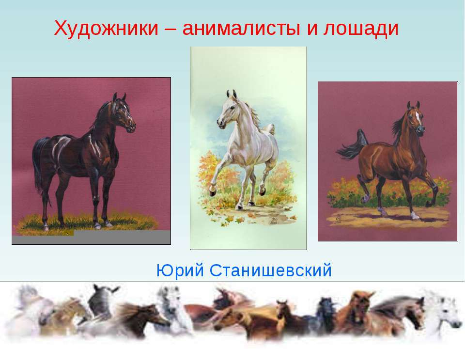 Художники – анималисты и лошади Юрий Станишевский