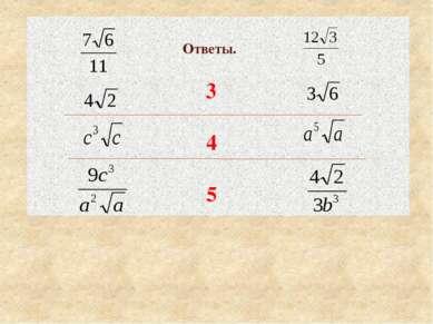 Ответы. 3 4 5 Критерии оценивания открыть по щелчку мыши. Собрать тетради.
