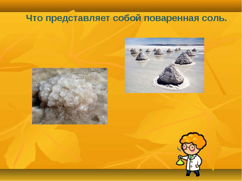 Что представляет собой поваренная соль.