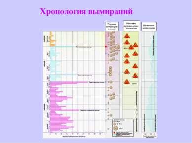 Хронология вымираний Падение астероидов и комет Излияние вулканических базаль...
